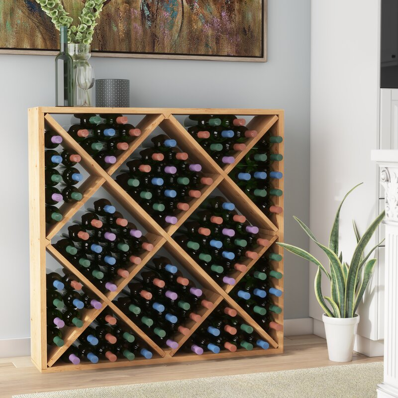 Darby Home Co Soler 120 Bottle Floor Wine Bottle Rack