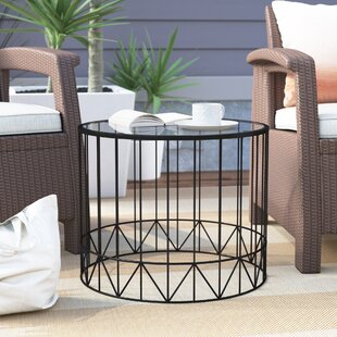 Pittard Home Garden Patio Accent Metal 2 Piece Coffee Table Set