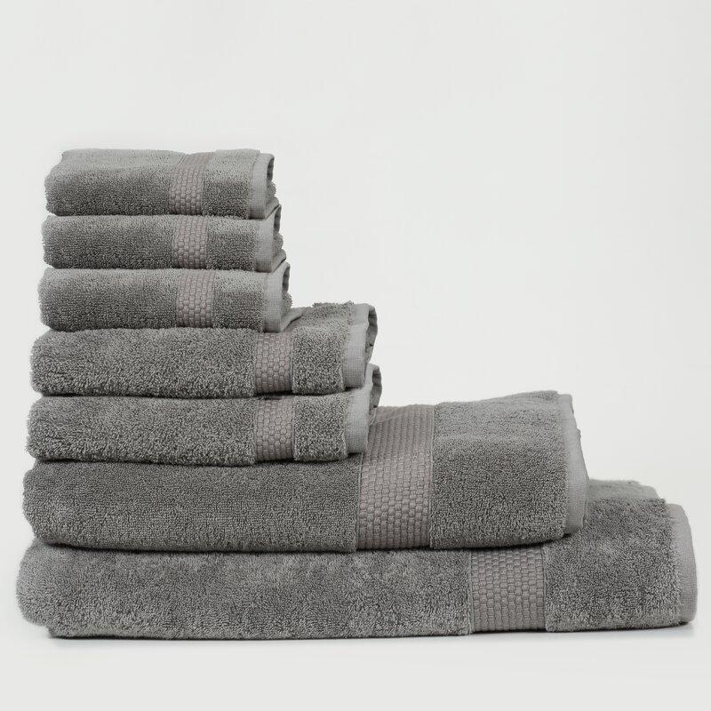 Canora Grey Al 7 Piece Turkish Cotton Bath Towel Set  Color: Mist