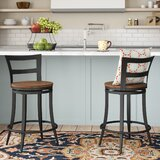 Giana Swivel 24 Counter Stool (Set of 2) by Andover Mills™