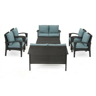Ronnell Outdoor 8 Piece Rattan Sofa Set