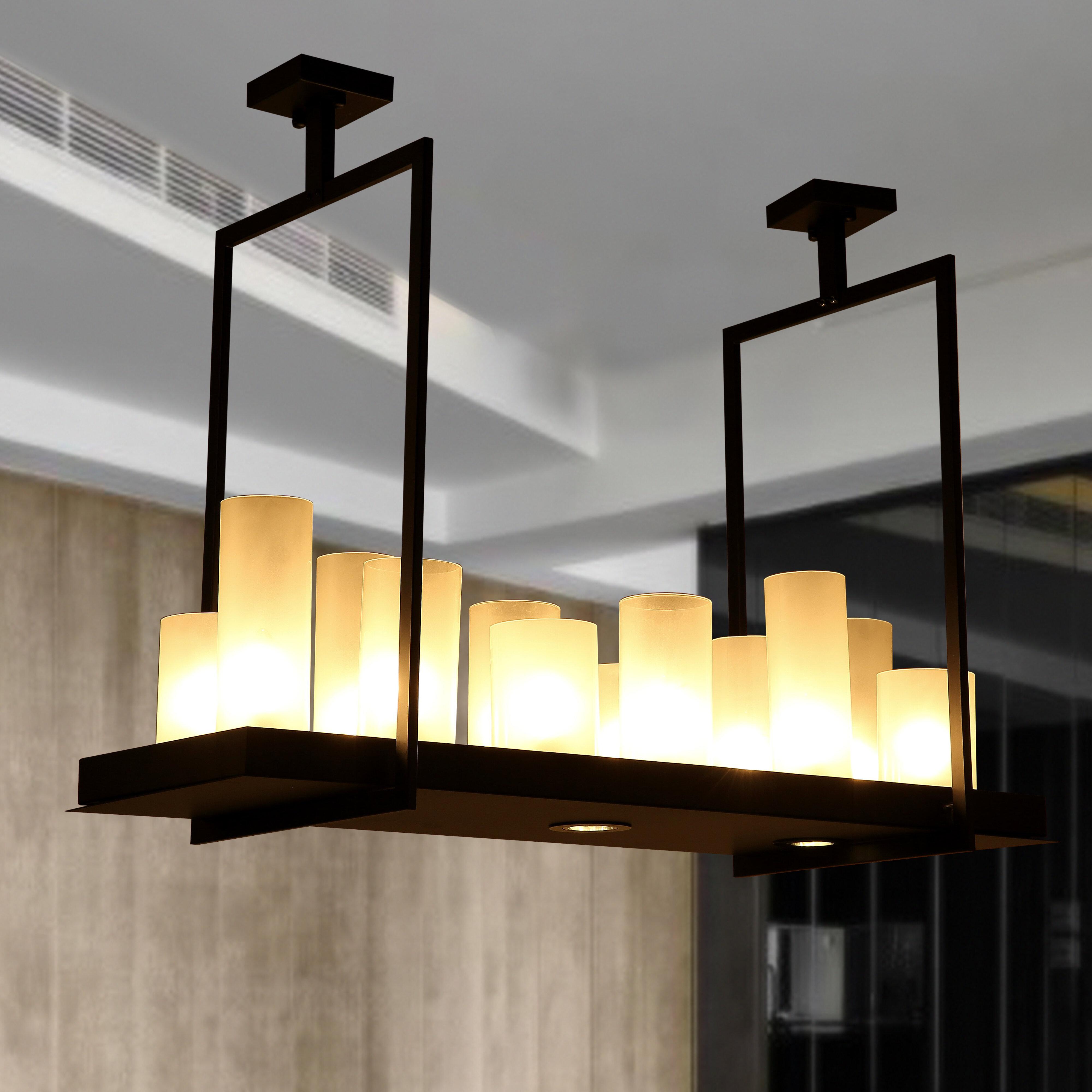 Wrought studio donati candle 12 light kitchen island pendant wayfair