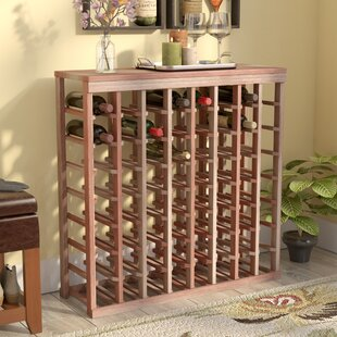 Red Barrel Studio Karnes Redwood Table Top 64 Bottle Floor Wine Rack