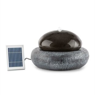 Ocean Planet Polyresin Solar Fountain With Light By Blumfeldt