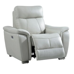 Latitude Run Meister Electric Leather Recliner