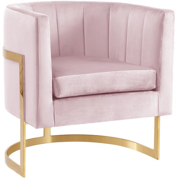 Cool Modern Contemporary Soft Pink Velvet Chair Allmodern Alphanode Cool Chair Designs And Ideas Alphanodeonline
