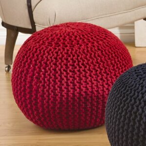 Reviews Bonelli Cotton Twisted Rope Ottoman by Wrought Studio