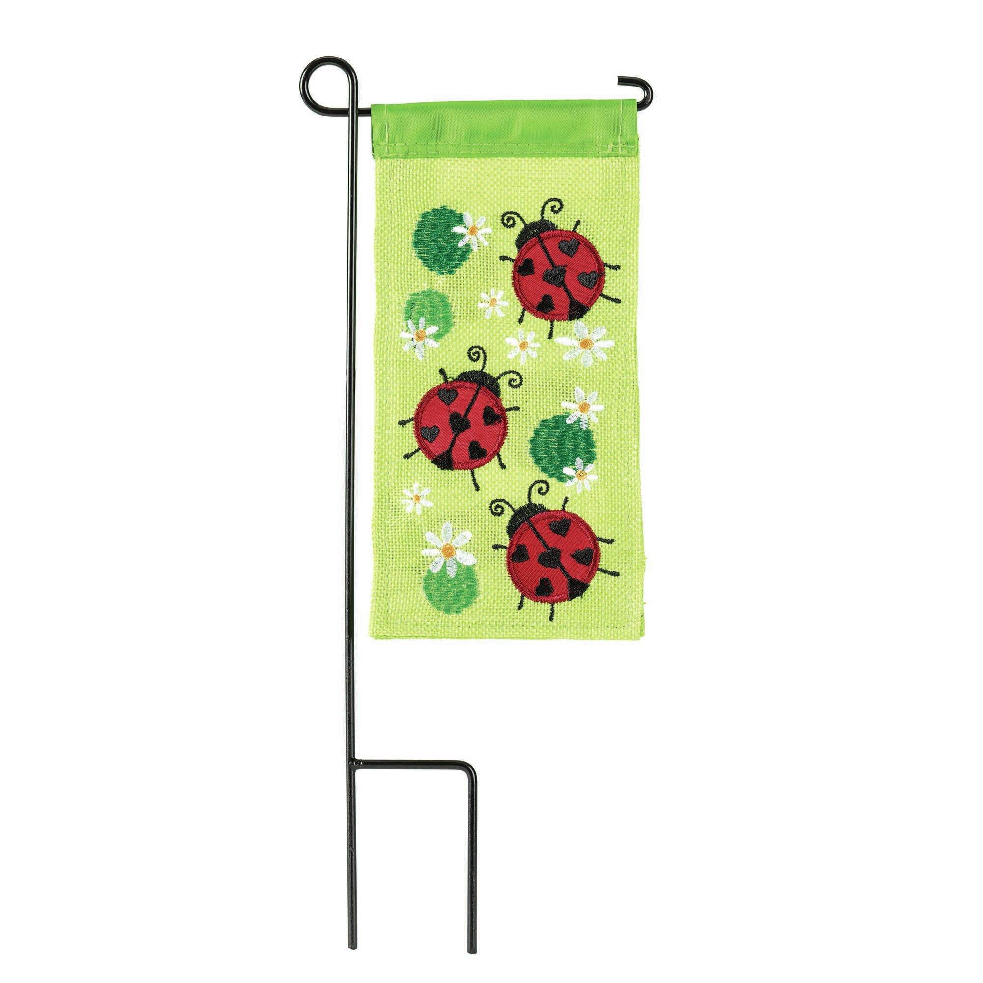 Arlmont Co Saxis Ladybugs Burlap 2 Sided Polyester 8 5 X 4 5 In Garden Flag Wayfair