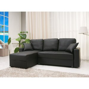 Keshawn Sleeper Sectional  sc 1 st  Wayfair.com : love seat with chaise - Sectionals, Sofas & Couches