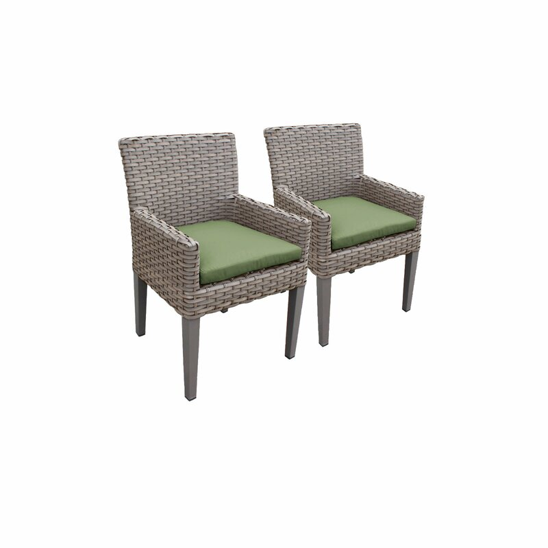 Sol 72 Outdoor  Rockport Patio Dining Chair with Cushion Cushion Color: Cilantro