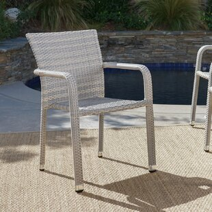 Wiersma Stacking Patio Dining Chair (Set of 4) by Wrought Studio