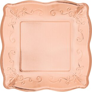 Square Banquet Paper Dinner Plate (Set of 8)