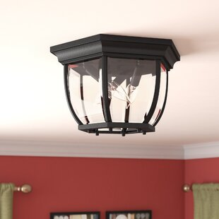 Order Oakhill 3-Light Outdoor Flush Mount By Charlton Home