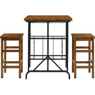 Ordway 3 Piece Dining Set Loon Peak