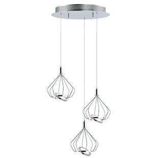 Eckman 3-Light LED Cluster Pendant by Orren Ellis