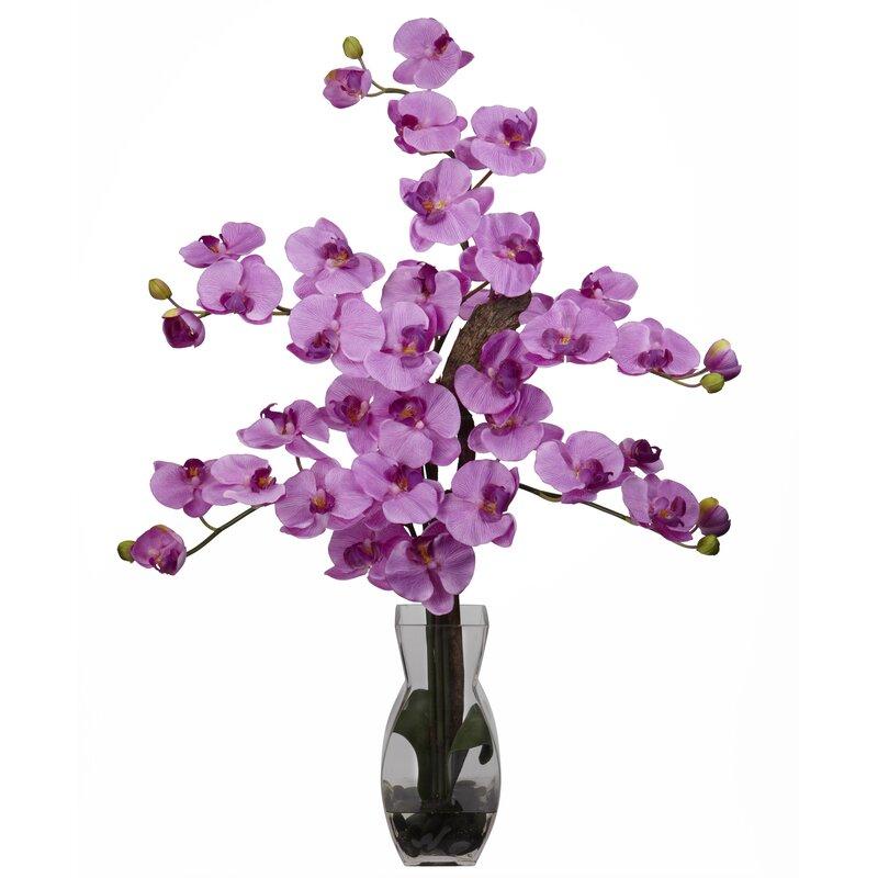 Nearly natural phalaenopsis with vase silk flower arrangement in phalaenopsis with vase silk flower arrangement in mauve mightylinksfo