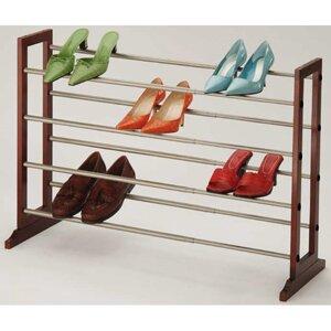 Reviews Shoe Storage 4 Tier Expandable Shoe Rack ByRichards Homewares