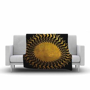 Find Matt Eklund Gilded Chaos Geometric Fleece Blanket ByEast Urban Home