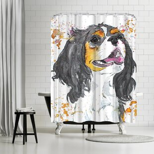 East Urban Home Allison Gray King Charles Shower Curtain