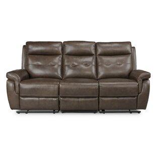 Sasheer Leather Reclining Sofa..