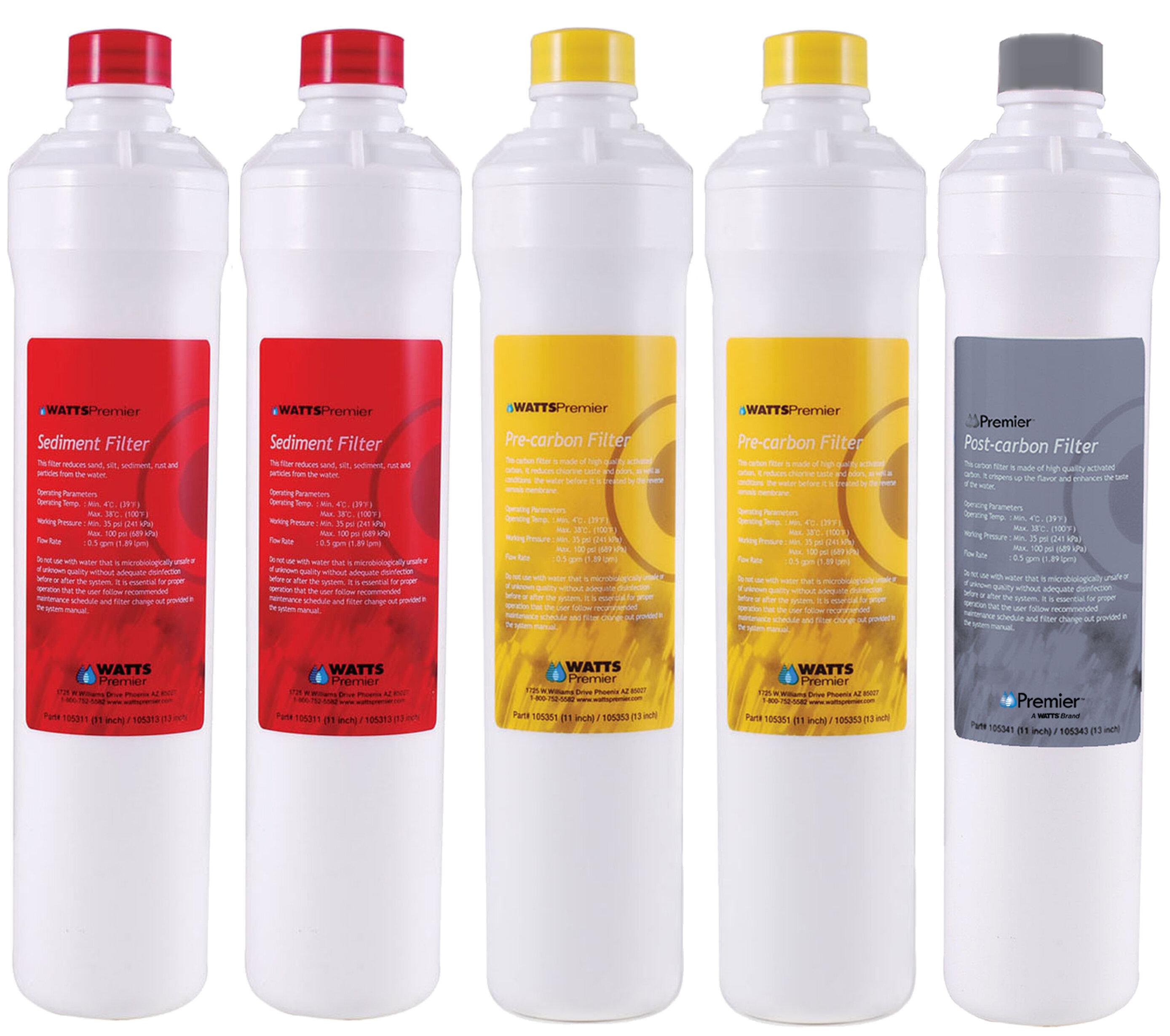 4 Piece Set RO Reverse Osmosis Replacement Filter Set