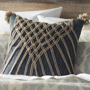 Denys Traditional Square Cotton Throw Pillow