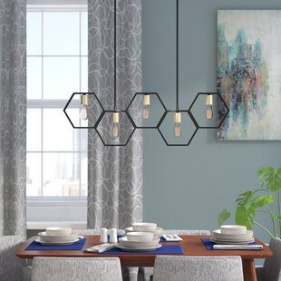 Themis 5-Light Geometric Chandelier by Wrought Studio