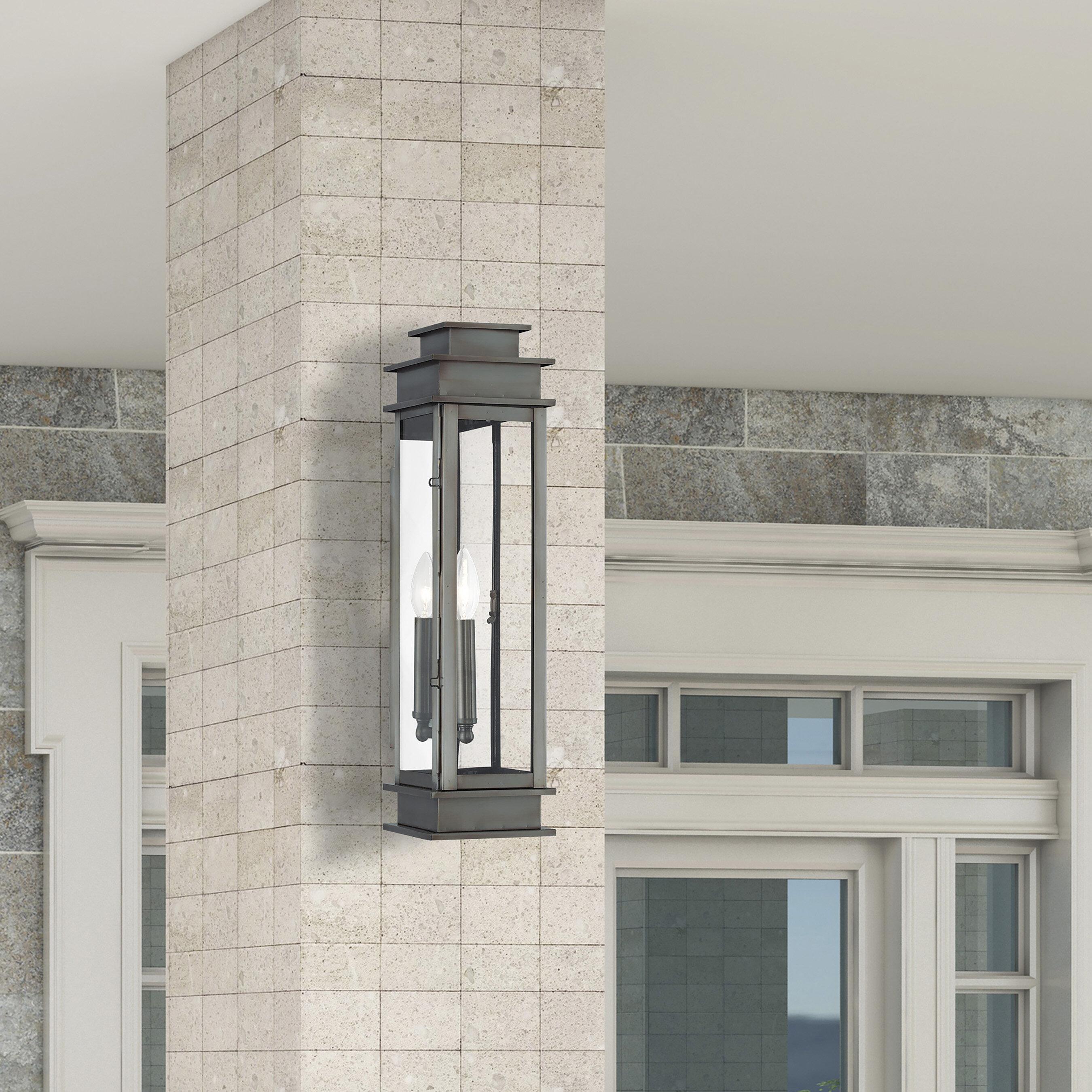 Gracie Oaks Gobinda Outdoor Wall Lantern Reviews Wayfair