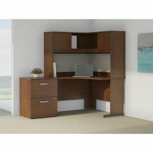 Bush Business Furniture Series C Elite 4 Piece L-Shape Desk Office Suite