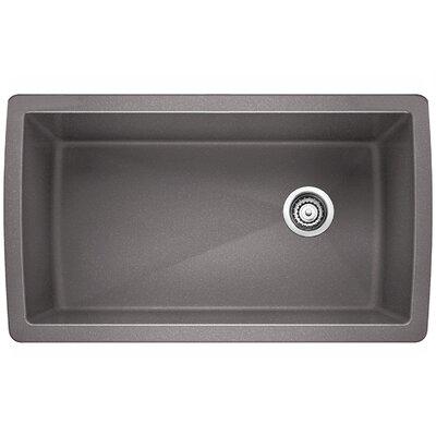 Blanco Diamond 33.5 L x 18.5 W Undermount Kitchen Sink Color: Metallic Gray