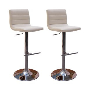 Retro Height Adjustable Swivel Bar Stool (Set Of 2) By Metro Lane