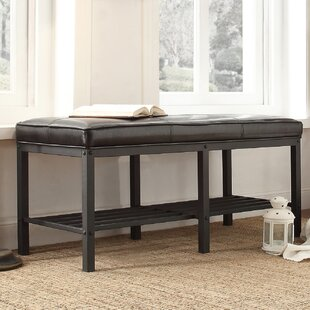 Mercury Row Zona Leather Storage Bench