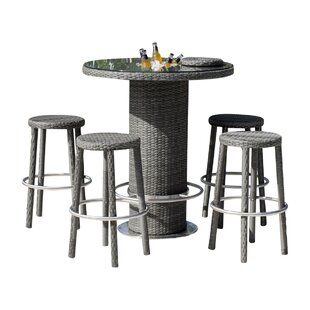 Saliba 5 Piece Pub Table Set (Set of 5)