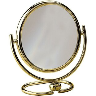 Hummer Round Double-Sided Makeup/Shaving Mirror ByAlcott Hill
