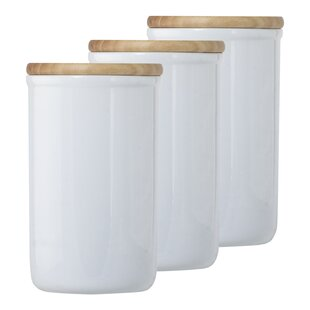Ceramic Food Storage 3 Piece Kitchen Canister Set (Set of 3)