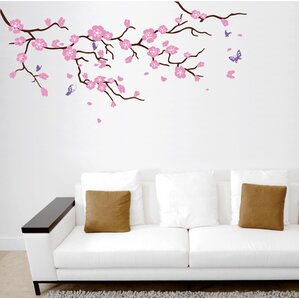 cherry blossom tree branch wall decal