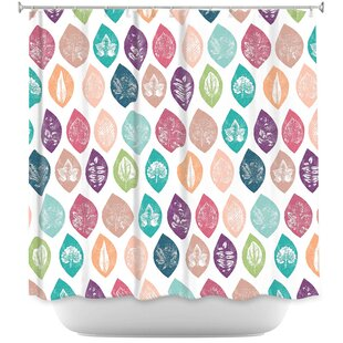 Spring Leafs Single Shower Curtain