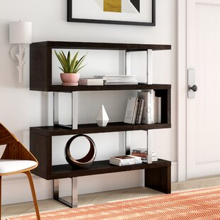 Top Reviews Gorontalo Geometric Bookcase by Wade Logan
