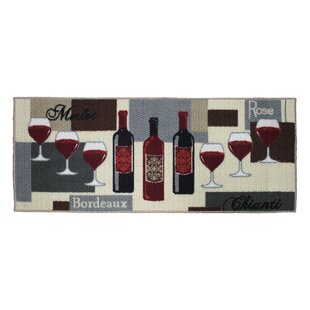 Textured Loop Wine Time Kitchen Area Rug