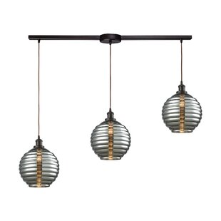 Bourbeau 3-Light Cluster Pendant by Brayden Studio
