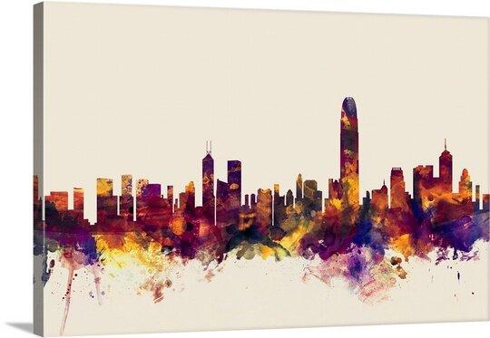 Great Big Canvas Hong Kong Skyline By Michael Tompsett Graphic Art Print Wayfair