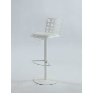 Jillian Adjustable Height Bar Stool Orren Ellis