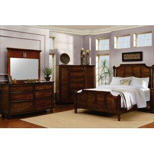 Khang Shutter Wood Panel 5 Piece Bedroom Set
