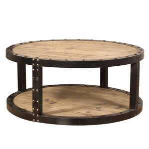 Ouray Aged Wood Iron Coffee Table by Trent A..