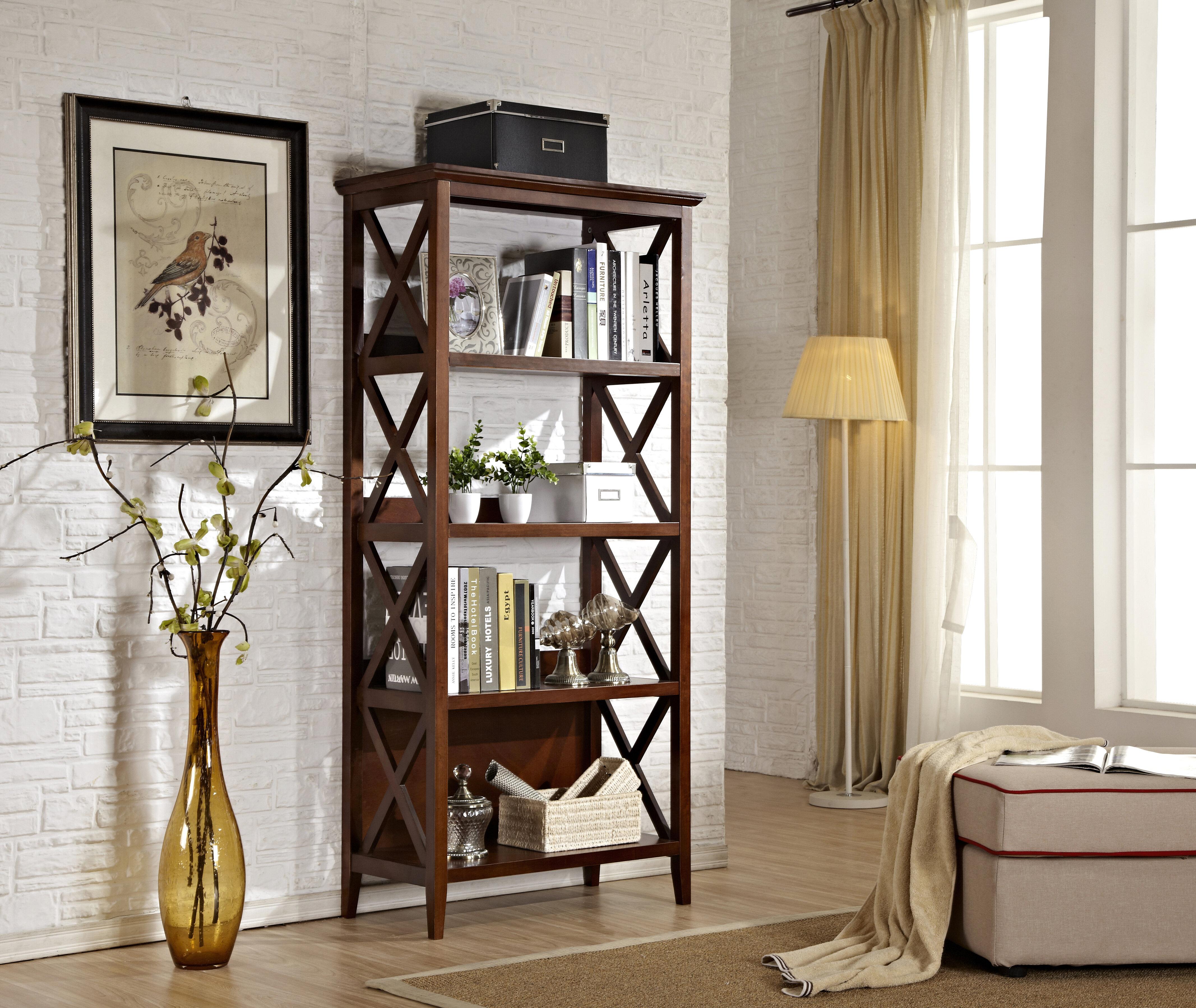 Gracie Oaks Swigert Etagere Bookcase Wayfair