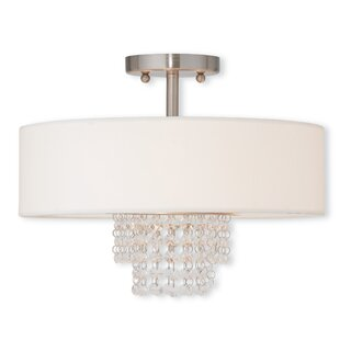 Willa Arlo Interiors D'or 2-Light Semi Flush Mount