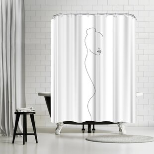 Explicit Design Back Side Single Shower Curtain by East Urban Home #1