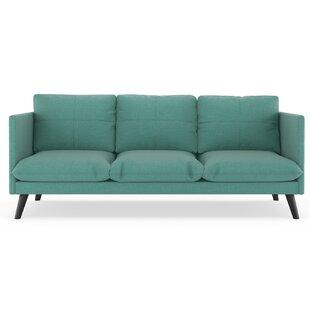 Rodgers Linen Weave Sofa by Brayden Studio New