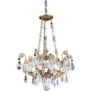 Schonbek Versailles Rock Crystal 6-Light Candle Style Chandelier