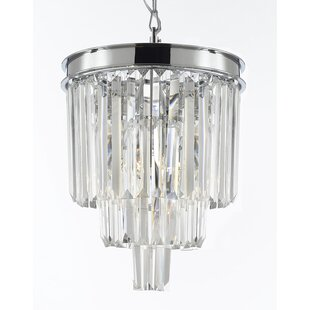 Keever 3-Light Crystal Pendant by House of Hampton